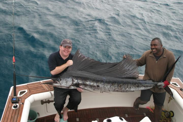 Pacific Sailfish on Bite Me, Fiji