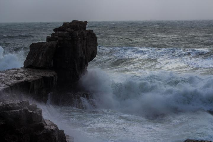 Pulpit Rock, Portland Dorset in a storm