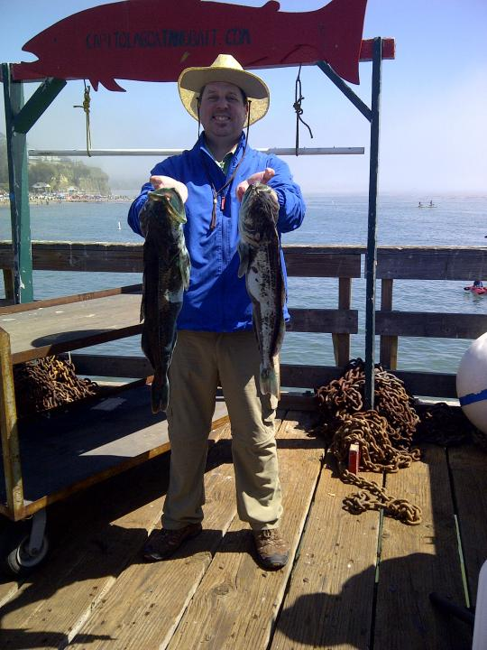 Me with two lingcod