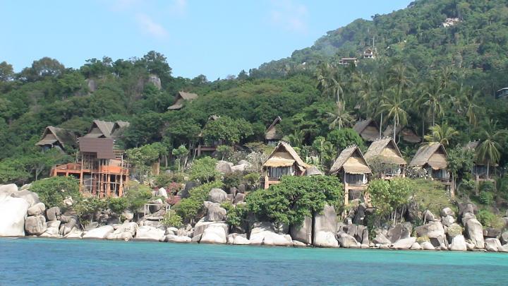 Thailand shore line of Koh Tao