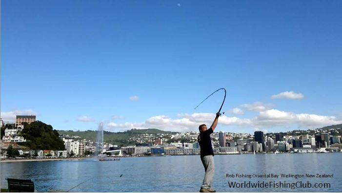 Casting Out At Oriental Bay